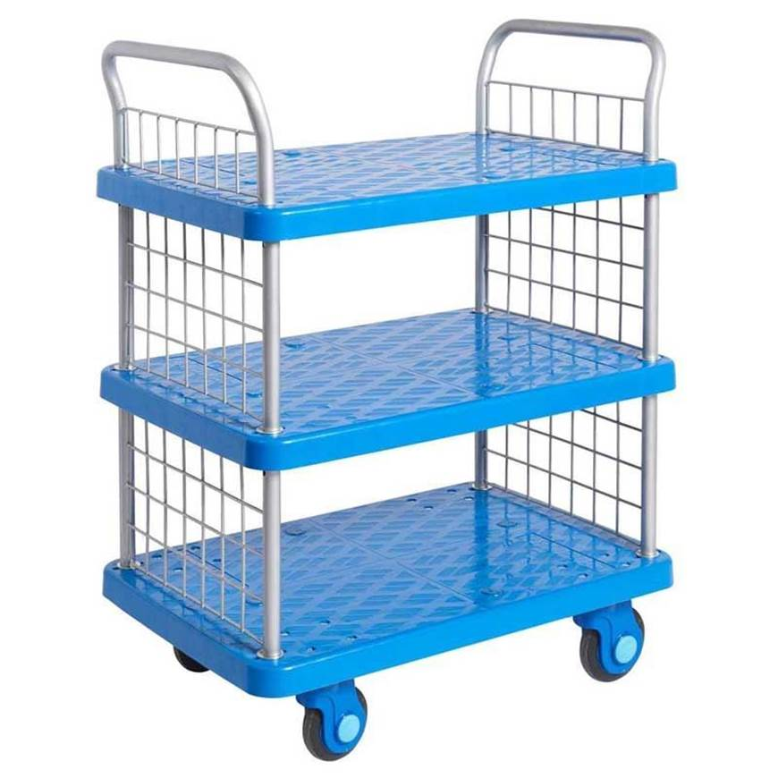 Proplaz Super Silent Three Tier Trolley with Mesh Ends. GPC ...