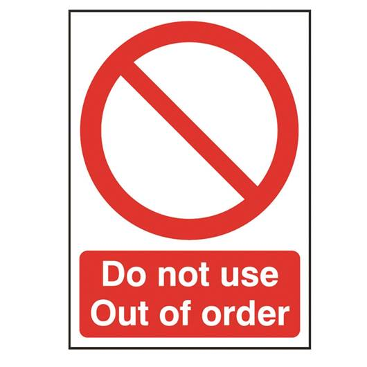 Picture of Do Not Use - Out Of Order Sign