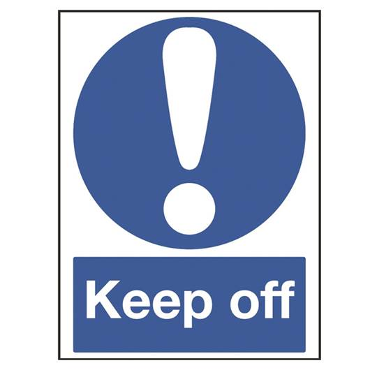 Picture of Keep Off Sign