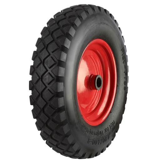 Picture of Black Pneumatic Tyred Wheels With Coloured Metal Centres