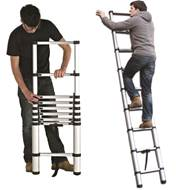 Picture of 9 Rung Telescopic Ladder