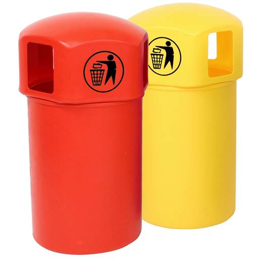 Picture of Litter Bins with Tidy Man Logo