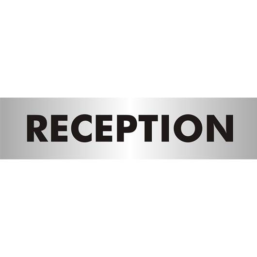 Picture of Reception Brushed Aluminium Office Sign