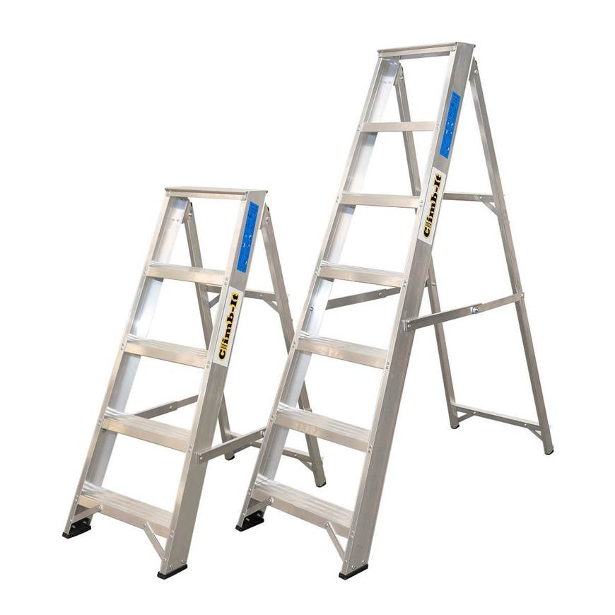 Picture of Climb-It Aluminium Swingback Stepladders