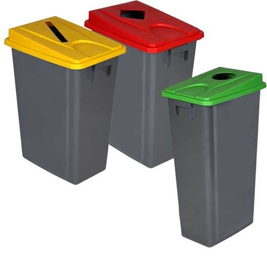 Picture of Recycling Waste Bins with Lid Options