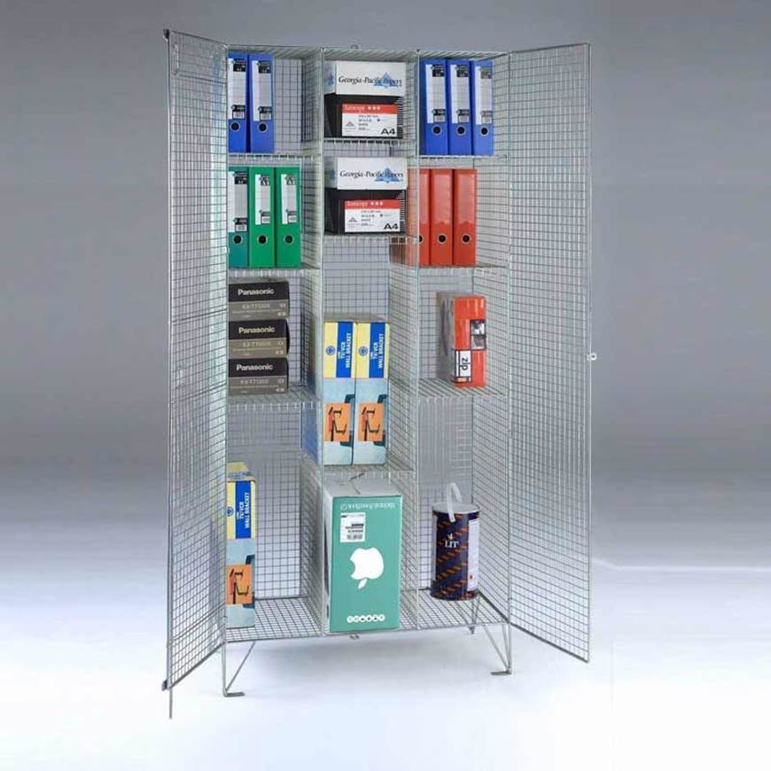 Wire Mesh Compartment Divided Cupboard. GPC Industries Ltd ...