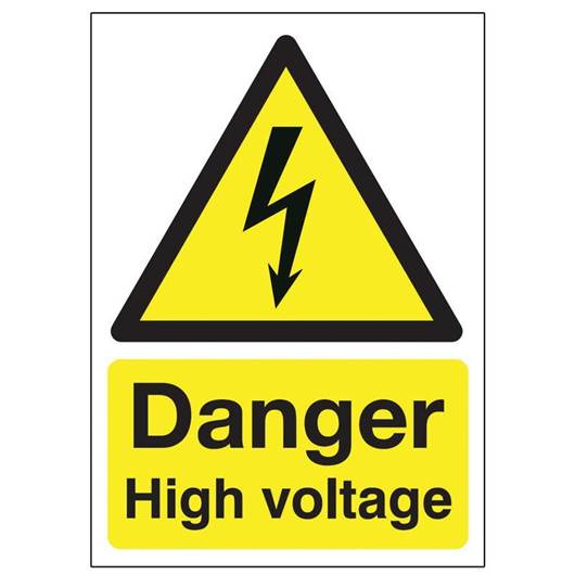 Picture of Danger High Voltage Sign