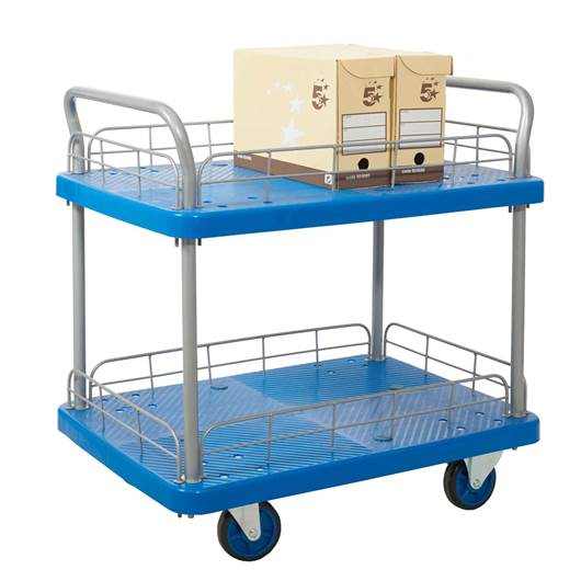 Picture of Proplaz Blue Two Tier Trolley with Wire Surround